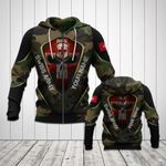 Customize Swiss Army Camo Skull 3D All Over Print Hoodies