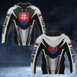 Customize Slovakia Coat Of Arms And Flag V2 Print All Over Print Hoodies