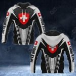 Customize Switzerland Coat Of Arms And Flag V2 Print All Over Print Hoodies