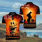 New Zealand We Remember All Over Print Polo Shirt