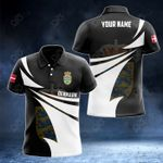 Customize Denmark Coat Of Arms New Style 3D Print All Over Print Polo Shirt