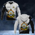 Customize Honduras Coat Of Arms Black And White All Over Print Hoodies