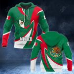 Mexico Coat Of Arms Map Proud Version All Over Print Hoodies