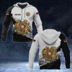 Customize Armenia Coat Of Arms Black And White All Over Print Hoodies