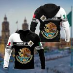 Customize Mexico Black And White All Over Print Shirts
