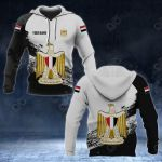 Customize Egypt Coat Of Arms Black And White All Over Print Hoodies