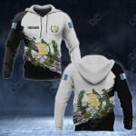Customize Guatemala Coat Of Arms Black And White All Over Print Hoodies