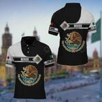 Customize Mexico Black And White All Over Print Polo Shirt