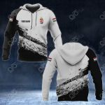 Customize Hungary Coat Of Arms Black And White V2 All Over Print Hoodies