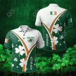 Ireland Rugby Shamrock All Over Print Polo Shirt