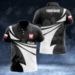 Customize Poland Coat Of Arms New Style 3D Print All Over Print Polo Shirt