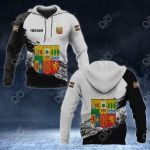 Customize Basque Coat Of Arms Black And White All Over Print Hoodies