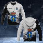 Customize Galicia Coat Of Arms Black And White All Over Print Hoodies