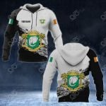 Customize Ivory Coast Coat Of Arms Black And White All Over Print Hoodies