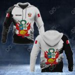 Customize Peru Coat Of Arms Black And White All Over Print Hoodies