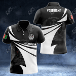 Customize Afghanistan Coat Of Arms New Style 3D Print All Over Print Polo Shirt