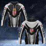 Customize Hungary Coat Of Arms And Flag V2 Print All Over Print Hoodies