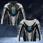 Customize Sweden Coat Of Arms And Flag V2 Print All Over Print Hoodies