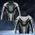 Customize Ukraine Coat Of Arms And Flag V2 Print All Over Print Hoodies