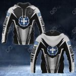 Customize Greece Coat Of Arms And Flag V2 Print All Over Print Hoodies