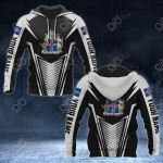 Customize Iceland Coat Of Arms And Flag V2 Print All Over Print Hoodies