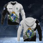 Customize Uruguay Coat Of Arms Black And White All Over Print Hoodies