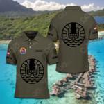 Customize French Polynesia Coat Of Arms Polo Shirt