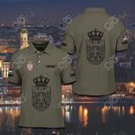 Customize Serbia Coat Of Arms Polo Shirt