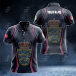 Customize Denmark Coat Of Arms Print 3D Special All Over Print Polo Shirt