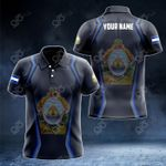 Customize Honduras Coat Of Arms Print 3D Special All Over Print Polo Shirt
