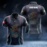 Customize Mexico Coat Of Arms Print 3D Special All Over Print Polo Shirt