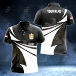 Customize Egypt Coat Of Arms New Style 3D Print All Over Print Polo Shirt