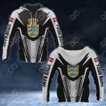 Customize Denmark Coat Of Arms And Flag V2 Print All Over Print Hoodies