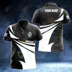 Customize Uruguay Coat Of Arms New Style 3D Print All Over Print Polo Shirt