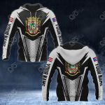 Customize Puerto Rico Coat Of Arms And Flag V2 Print All Over Print Hoodies