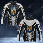Customize Romania Coat Of Arms And Flag V2 Print All Over Print Hoodies
