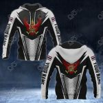 Customize Thailand Coat Of Arms And Flag V2 Print All Over Print Hoodies