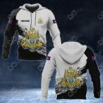 Customize Cambodia Coat Of Arms Black And White All Over Print Hoodies