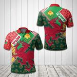 Welsh Dragon Daffodil All Over Print Polo Shirt
