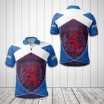 Scottish Lion Celtic Pattern All Over Print Polo Shirt