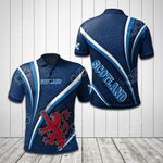 Scotland Lion - Blue All Over Print Polo Shirt