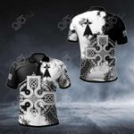 Brittany Celtic Cross All Over Print Polo Shirt