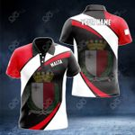Customize Malta Proud Version All Over Print Polo Shirt
