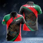 Customize Mexico Proud Version All Over Print Polo Shirt