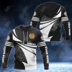 Customize Armenia Coat Of Arms Black And White New Style All Over Print Hoodies
