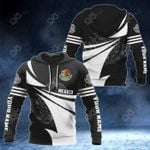 Customize Mexico Coat Of Arms Black And White New Style All Over Print Hoodies