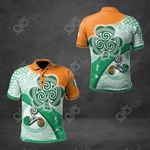 Ireland Flag With Celtic Patterns All Over Print Polo Shirt