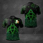 Ireland Shamrock Patterns All Over Print Polo Shirt