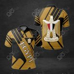 Egypt Coat Of Arms 3D All Over Print Polo Shirt