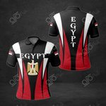 Egypt Coat Of Arms And Flag 3D All Over Print Polo Shirt
